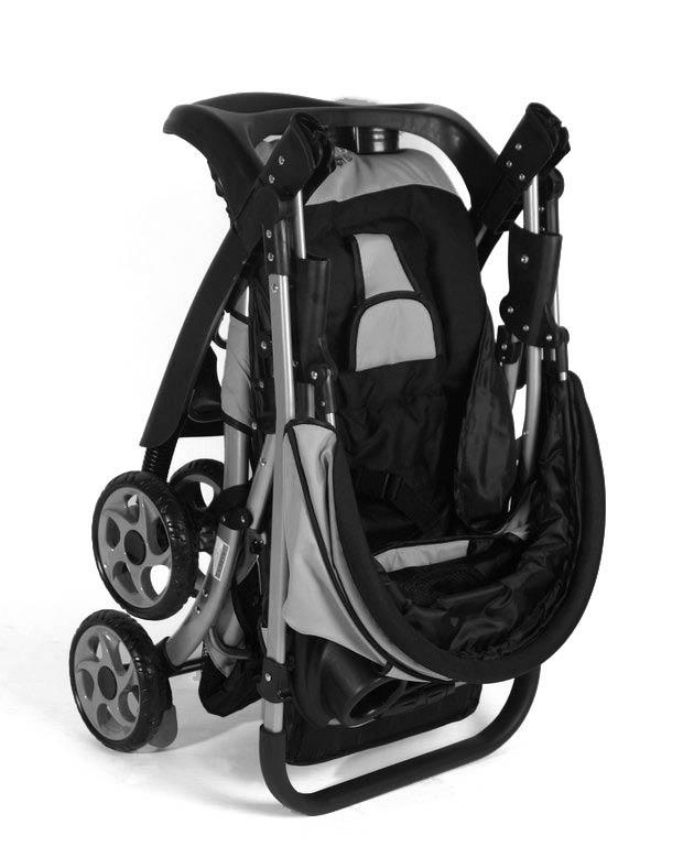 BLACK CROWN MicroBuggy Kinderwagen SUPERLEICHT Kinderbuggy Sportwagen Schwarz