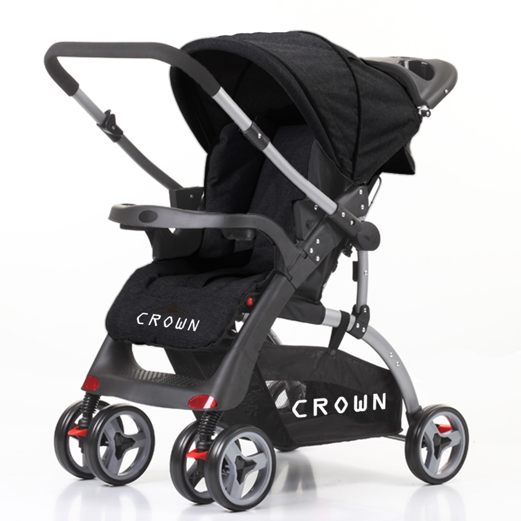 crown st530 buggy kinderwagen dual way grau kinderwagen buggy. Black Bedroom Furniture Sets. Home Design Ideas