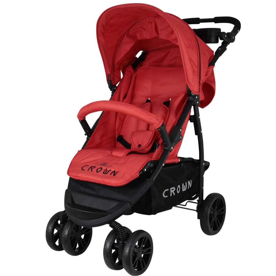 st560 crown kinderwagen buggy sport jogger farbe rot. Black Bedroom Furniture Sets. Home Design Ideas